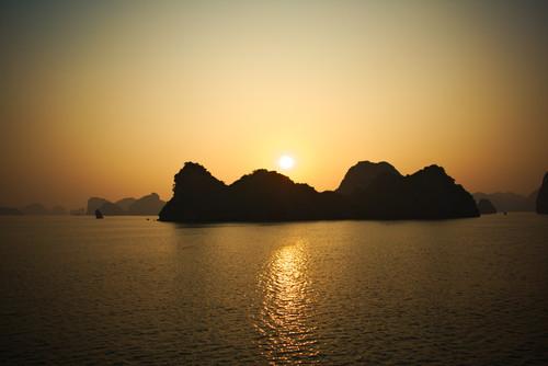 Sunrise over Ha Long Bay, Vietnam