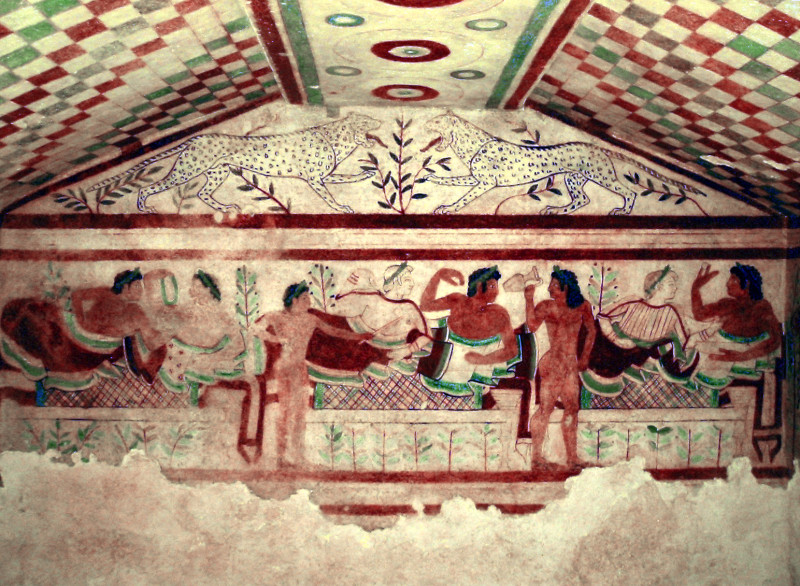 Monterozzi, Tarquinia_Tomb_of_the_Leopards